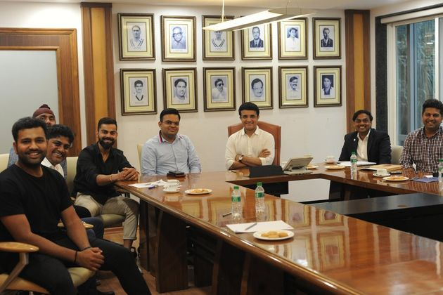 Sourav Ganguly meets Virat Kohli and Rohit
