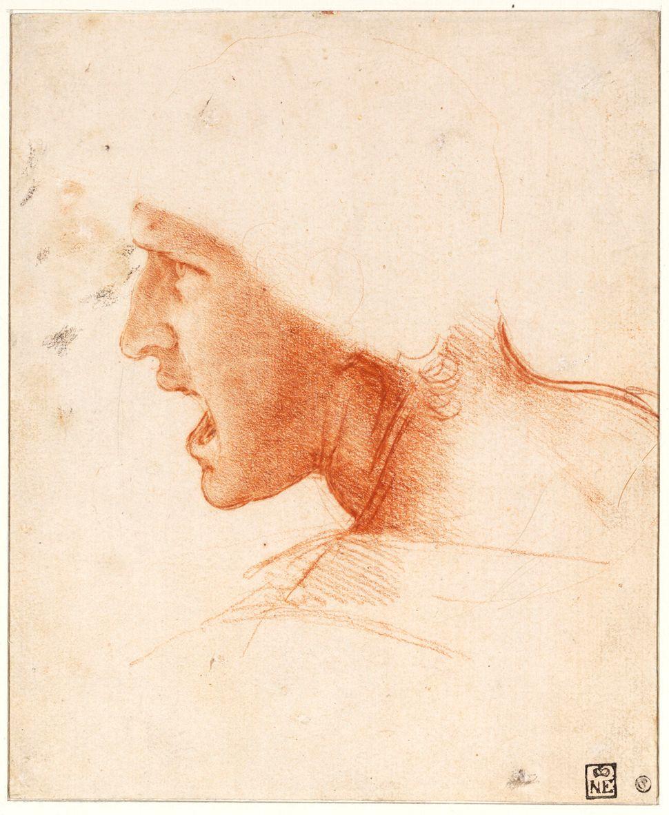 Léonard de Vinci, Étude de figure pour la Bataille d'Anghiari