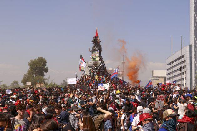 Manifestación en Santiago de Chile este 24 de
