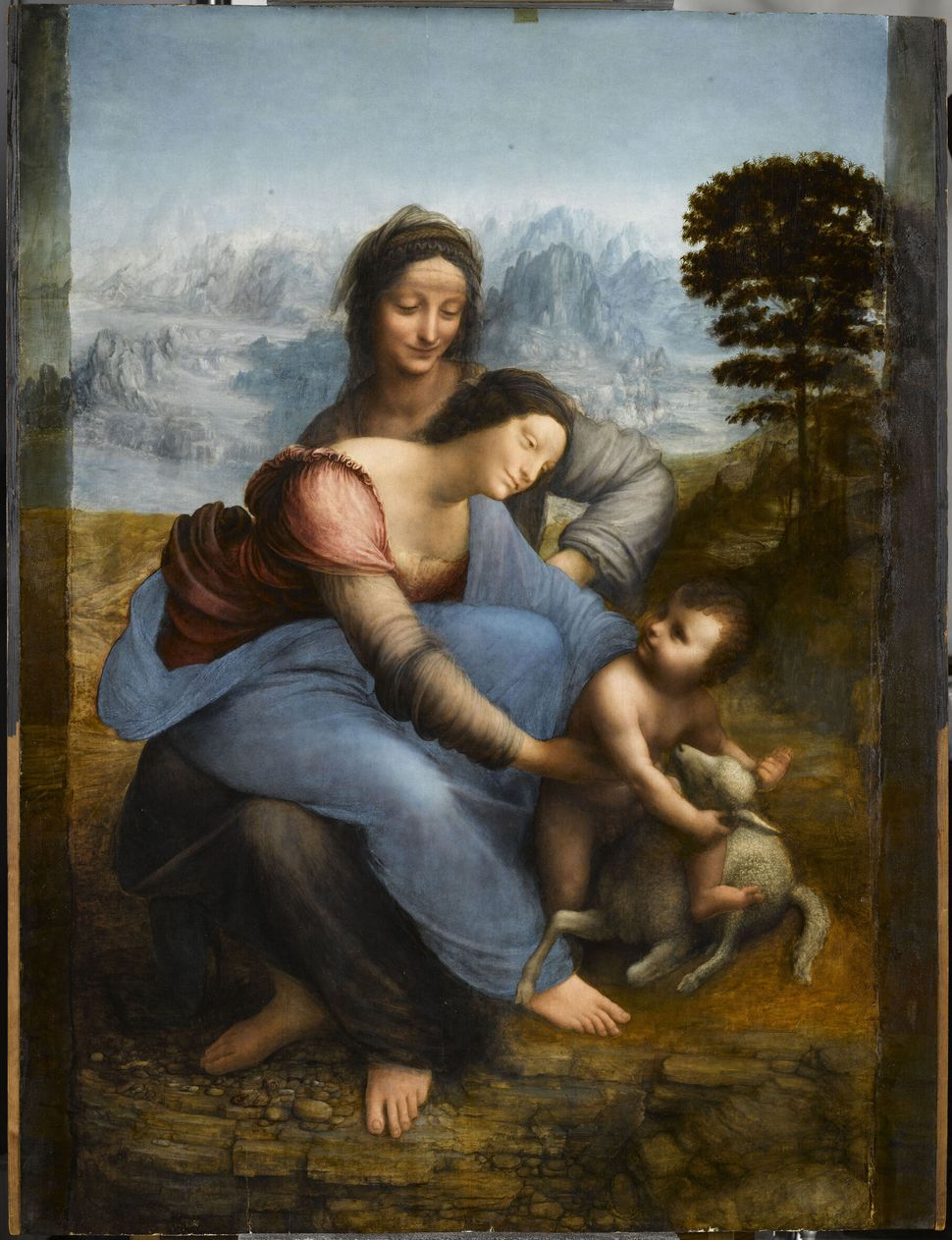 Léonard de Vinci, Sainte Anne, la Vierge et l'Enfant Jésus, dite La Sainte Anne