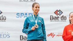 La Marocaine Aya Ouhra médaillée d'or aux mondiaux de karaté des jeunes au