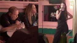 Cette comédienne découvre avec horreur Harvey Weinstein dans le public pendant son