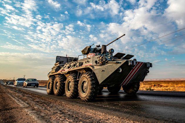 Ρωσικό στρατιωτικό όχημα...