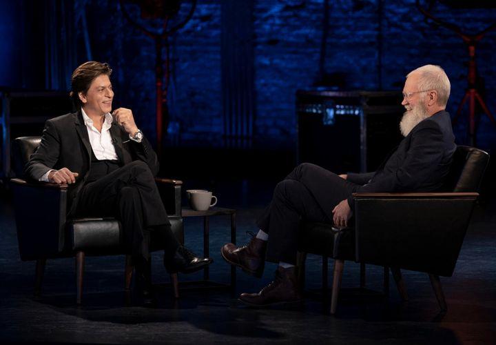 Shah Rukh Khan with David Letterman