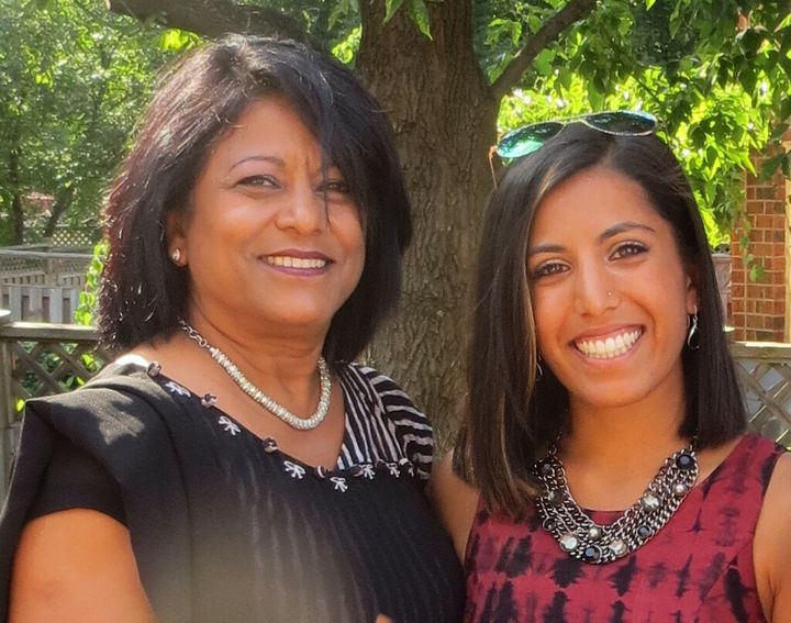 The author, right, and her mother, left.