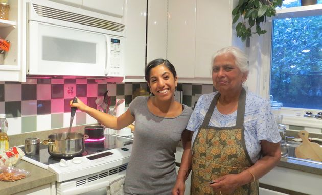 The author attempts to learn to cook Indian food from her nani (maternal grandmother),