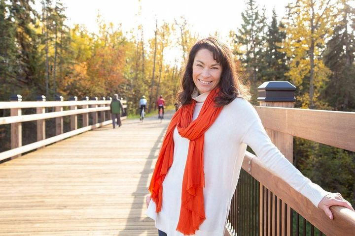 Heather McPherson, the MP-elect for the Alberta riding of Edmonton–Strathcona, is shown in a photo from her Facebook page.