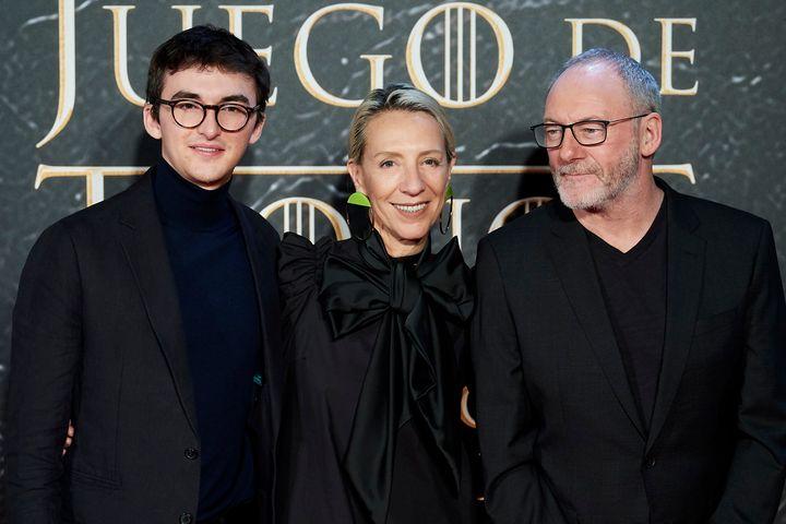 Hempstead, Clapton y Cunningham en la inauguración de la muestra el pasado jueves en Madrid.