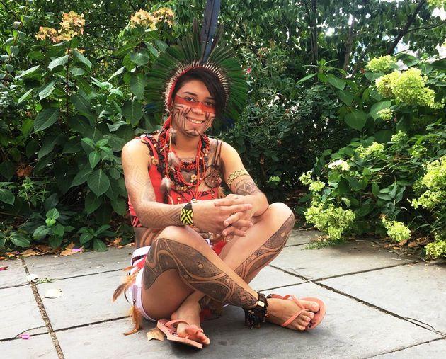 A ativista Artemisa Zakriabá, de 19
