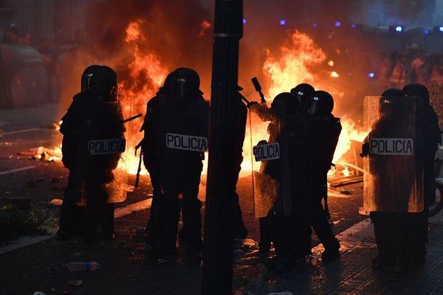 Fuego en los disturbios de