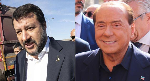 Salvini riempe la piazza del disagio, Berlusconi fa il solito show al
