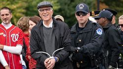 Ted Danson Almost Looks Thrilled To Get Busted With Jane Fonda At Climate