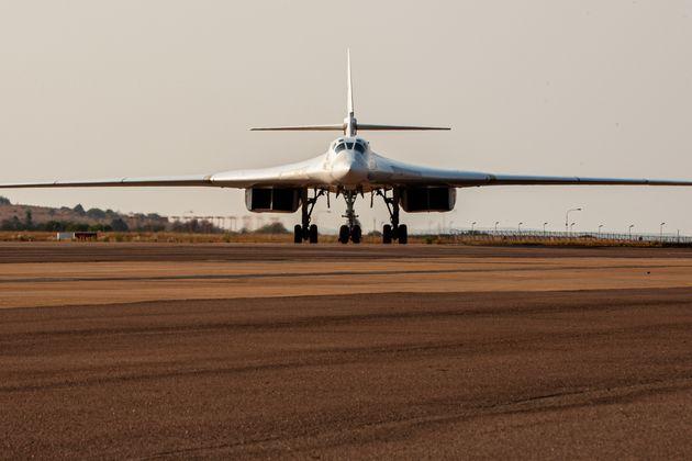 TOPSHOT - A Russian Air Force Tupolev Tu-160