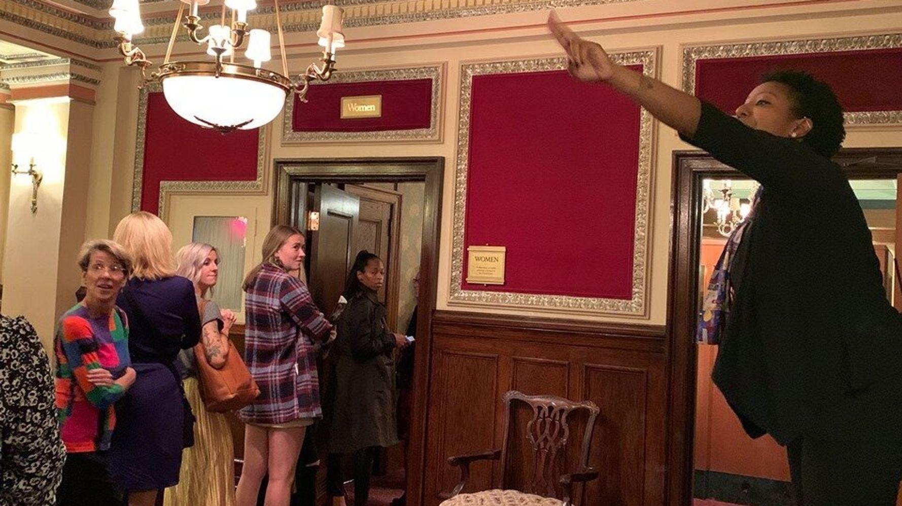 Usher Who Heroically Keeps Colossal 'Hamilton' Bathroom Line Moving Becomes Viral Star