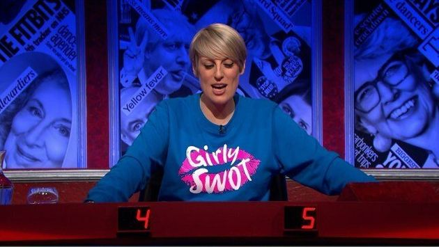 Steph McGovern Designed Her Own 'Girly Swot' Jumper For Have I Got News For You- And Now You Can Own One