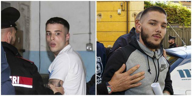 Paolo Pirino e Valerio Del Grosso, i due fermati per l'omicidio di Luca