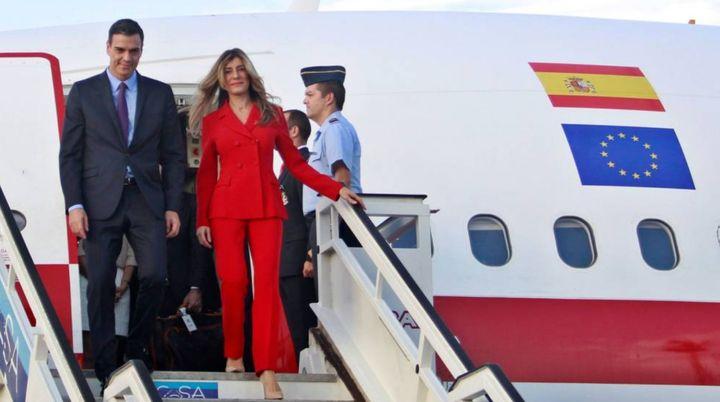 Pedro Sánchez y Begoña Gómez en Cuba.