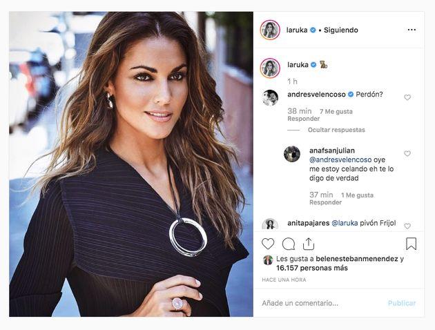 Andrés Velencoso reacciona a esta foto de Lara
