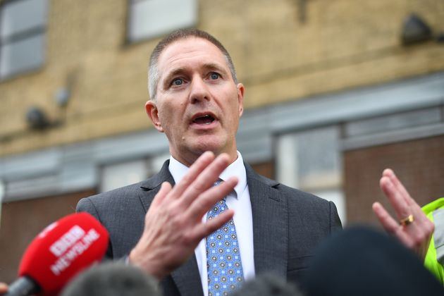 Detective Chief Inspector Martin Pasmore speaks to the media on