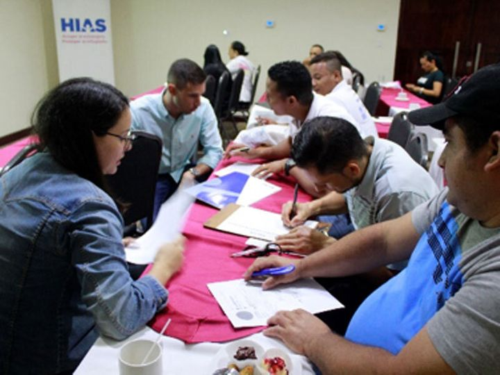 HIAS and its partners hosted a job fair for refugees in Panama in December.