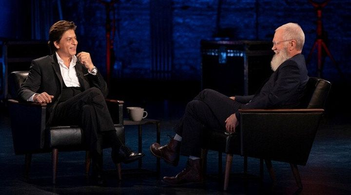 Shah Rukh Khan with David Letterman