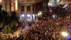 Miles de personas se concentran frente a la Jefatura Superior de Policía de