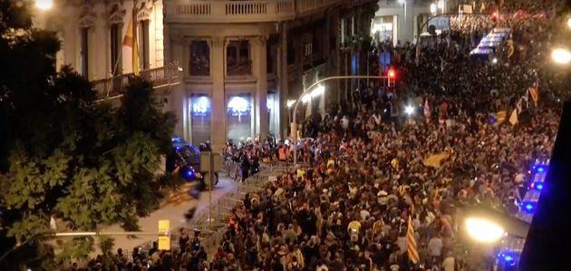 Manifestación frente a la Jefatura Superior de Policía de
