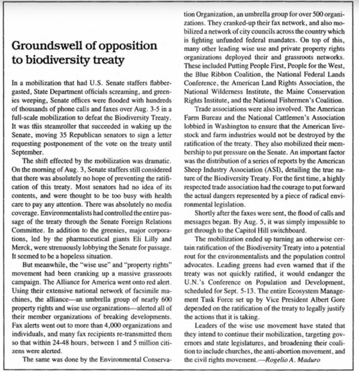 A piece by Rogelio Maduro in the Sept. 2, 1994, issue of Executive Intelligence Review.