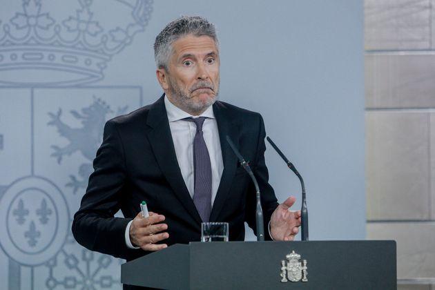 Críticas al ministro Marlaska por comparar la violencia en Cataluña con la del País