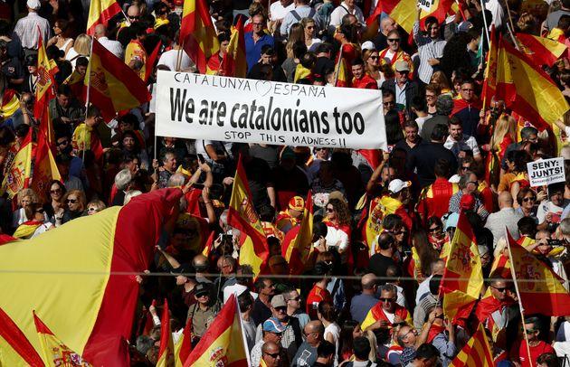 80.000 personas se manifiestan en Barcelona para decir