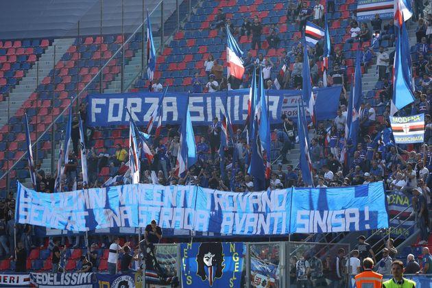 Mihajlovic non c'è. L'omaggio dei tifosi della Samp: