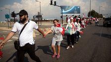 Libanon Demonstranten Bilden Menschenkette In Mitten Der Wirtschaftskrise
