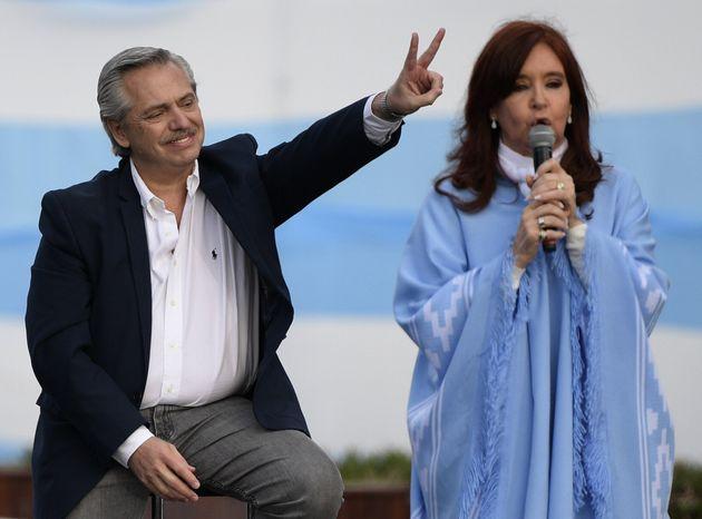 Alberto Fernandez e Cristina