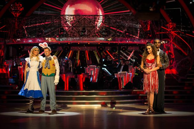 Catherine and Johannes (right) faced Mike and his partner Katya in Sunday night's