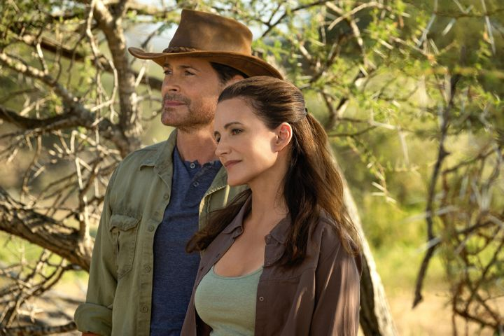 "Kristin Davis and Rob Lowe in ""Holiday in the Wild"""