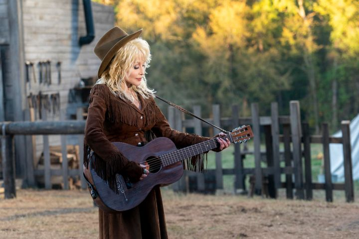 "Country music legend Dolly Parton in the new show ""Dolly Parton's Heartstrings."""