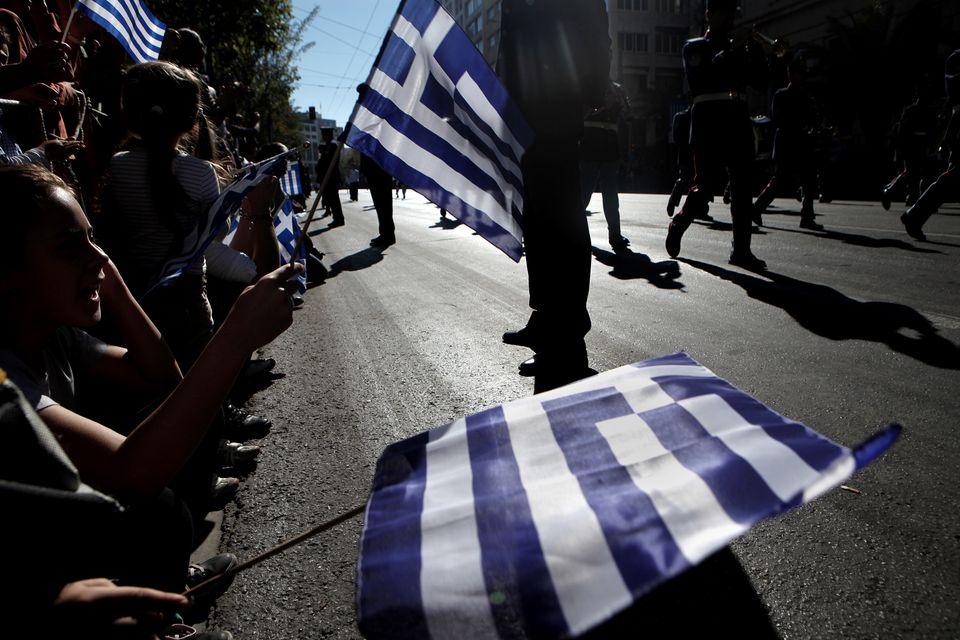 Στιγμιότυπο από την παρέλαση...
