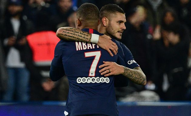 Mauro Icardi et Kylian Mbappé sont les deux buteurs de cette rencontre entre le PSG et l'OM au...