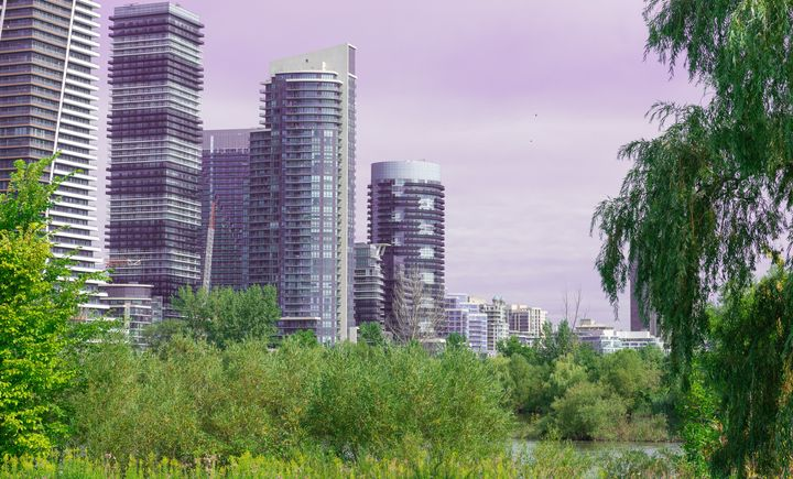 A view of condo towers at Humber Bay Shores in Toronto's Etobicoke borough.