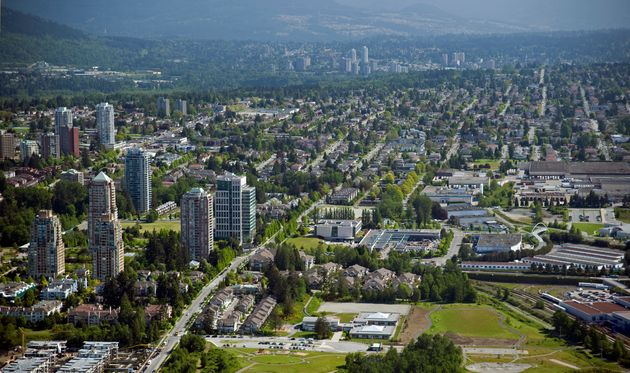 A view of apartment towers in Greater Vancouver city of Burnaby,