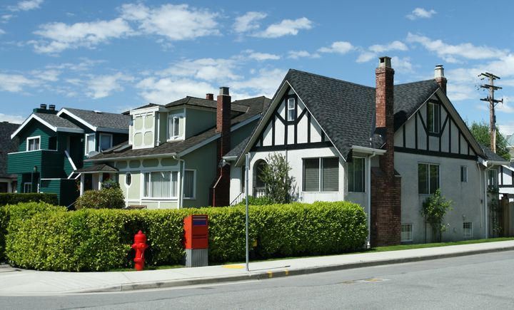 A typical residential area in the city of Vancouver.