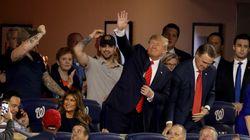 트럼프가 월드시리즈 열리는 야구장을 찾았고, 격한 야유가