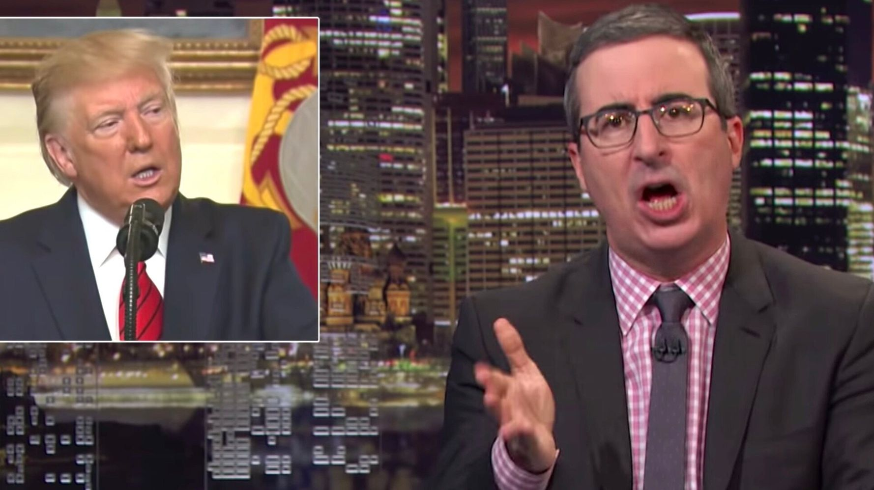 Westlake Legal Group 5db6a7172100001e38ad412c John Oliver Debuts A New NSFW Trump Slogan For 'Fox & Friends'