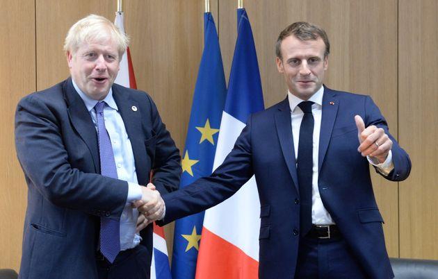 Emmanuel Macron et Boris Johnson lors du sommet européen du 17