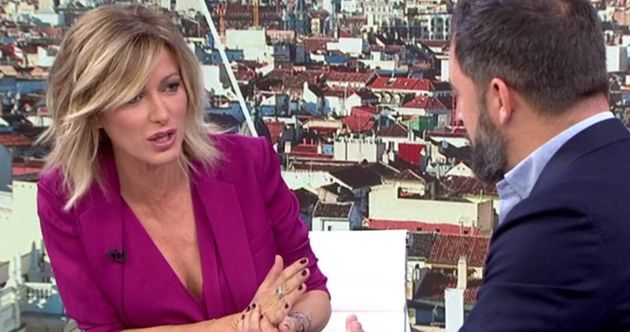 La periodista Susanna Griso y el líder de Vox, Santiago