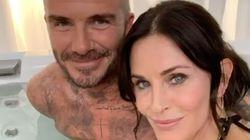 La foto de Courteney Cox y David Beckham en un jacuzzi que da que hablar por lo que pasa bajo el