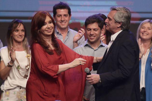 Cristina Fernández celebra el triunfo