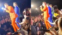 Nick Jonas victime des gestes déplacés d'une fan en plein