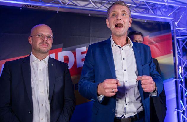Björn Höcke lors de la soirée électorale dimanche 27