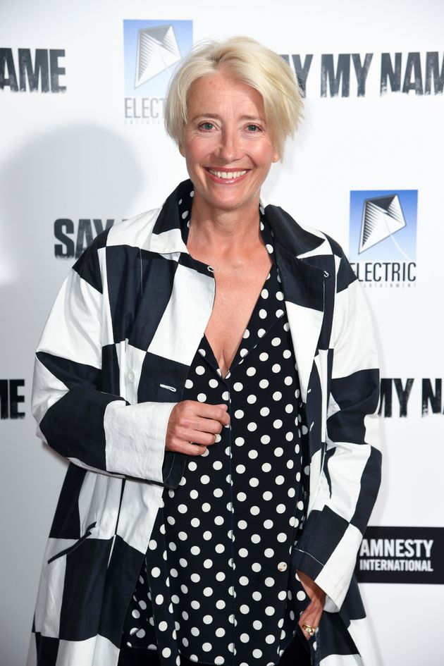 Emma Thompson attends the gala screening for Say My Name at the Odeon Luxe, Leicester Square, London....